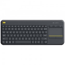 Logitech Wireless Touch Keyboard K400 Plus Negro