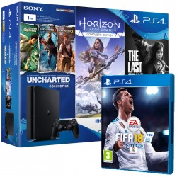 Sony PS4 PlayStation 4 Slim 1TB + 4 Juegos