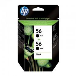 Pack Ahorro HP Nº56 Negro x2