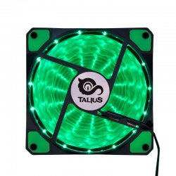 Talius Ventilador Caja FAN-03 15 LEDs Verde