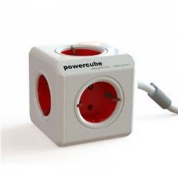 PowerCube 4 Tomas + 2 USB + Cable Gris